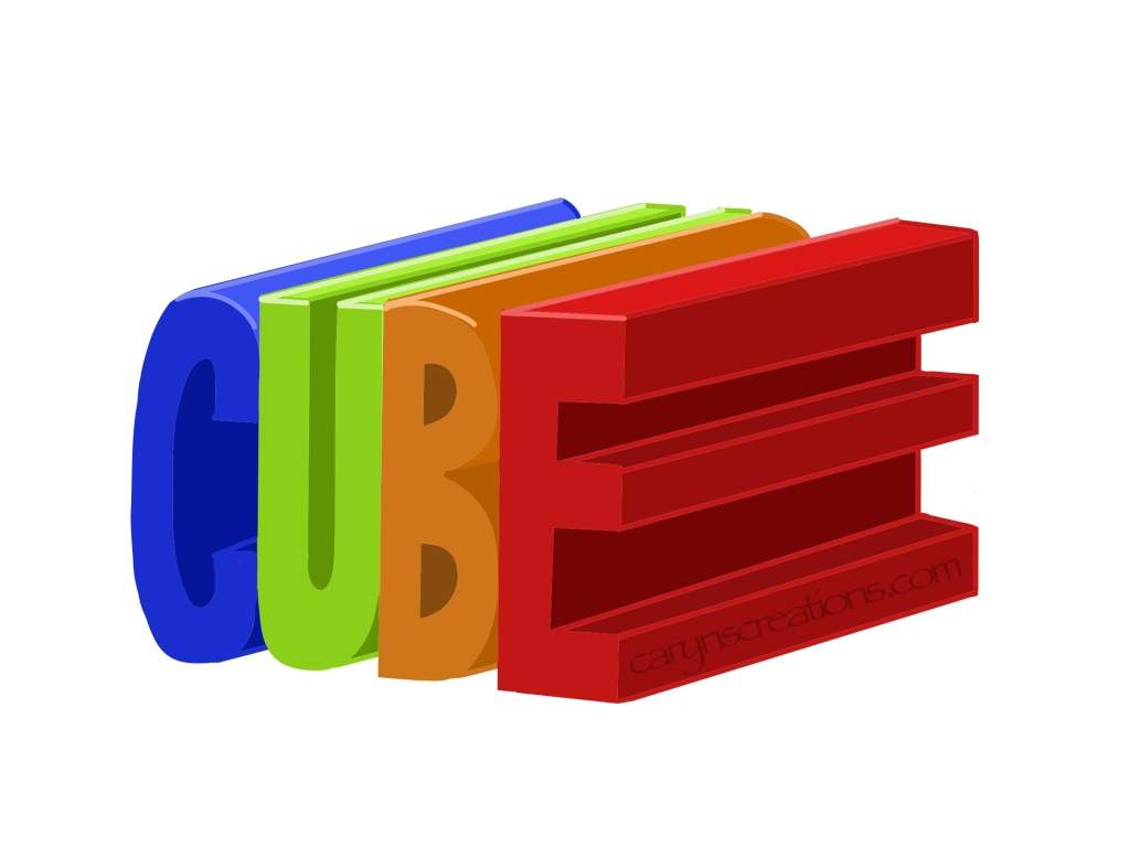 CUBE graphic drawn in Adobe Fresco using the ruler tool